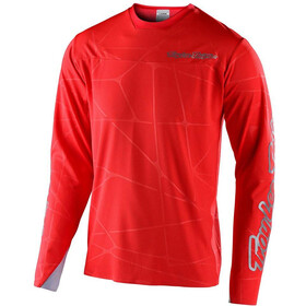 Troy Lee Designs Sprint Ultra Longsleeve Jersey, podium red/silver